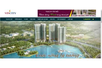 Giới thiệu mẫu thiết kế website dự án bất động sản Vincity Tây Mỗ