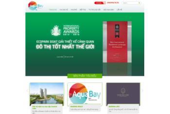 Giới thiệu mẫu website bất động sản theo dự án Ecopark Aqua Bay
