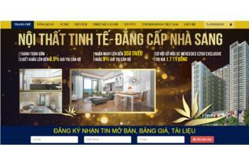 Giới thiệu website bất động sản theo dự án The Gold View quận 7